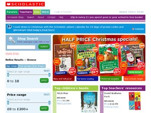 Scholastic Book Clubs website
