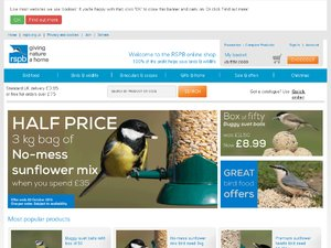 RSPB Shop website