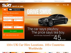 Sixt UK website