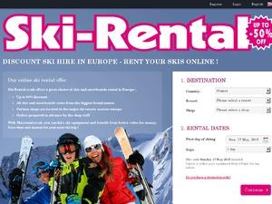 Ski rental website