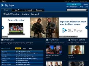Sky Player website