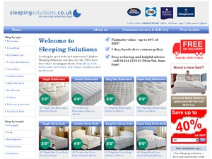Sleeping Solutions website