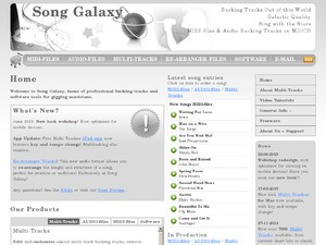Song Galaxy website