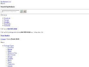 Spa Seekers website