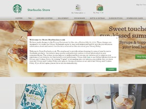 Starbucks Store website