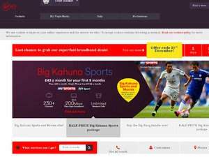 Virgin Media website