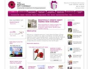 The Bespoke Gift Company website