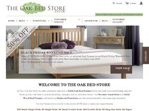 The Oak Bed Store website