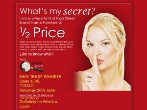 Trade-secret website