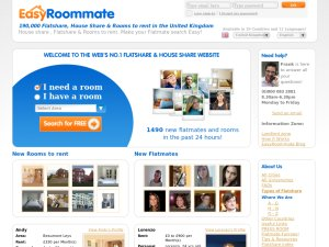 Easyroommate website