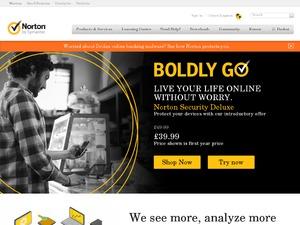 Norton by Symantec website