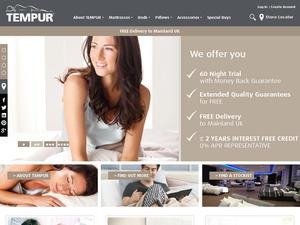 Tempur website