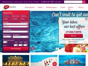 Virgin Holidays website