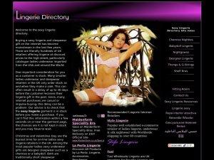 Lingerie Express website