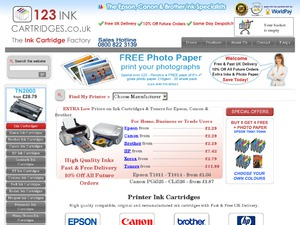 123 Ink Cartridges website