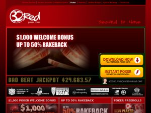 32 Red Poker Room website