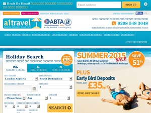 A1 Travel website