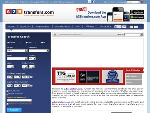 A2BTransfers.com website