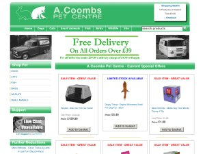 A Coombs Pet Centre website