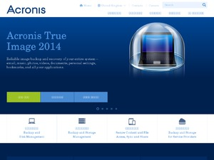 Acronis website