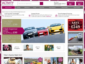 Activity Superstore website