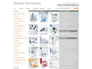 Adonis Grooming website