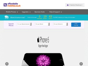 Affordable Mobiles website