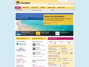 Airmiles Lloyds TSB website