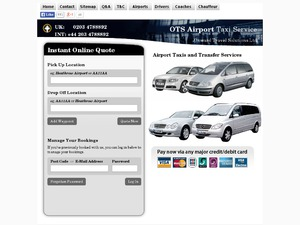Airport Taxis website