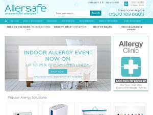 AllerSafe website
