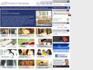 Amaroni Homeware website