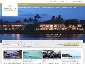Anantara Resorts US & CA website