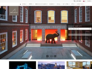 Apex Hotels website