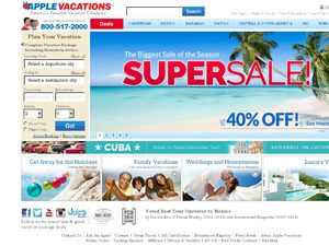 Apple Vacations website