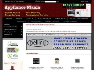Appliance Mania website