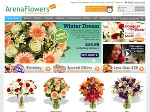 Arena Flowers website
