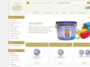Aromatherapy Gold website