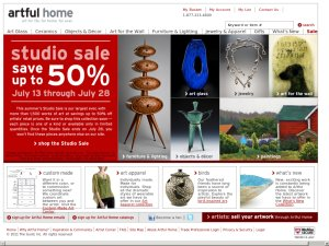 Artful Home website