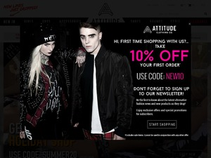 Attitude Clothing website