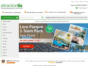Attractiontix website