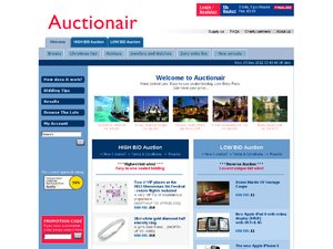 Auctionair website