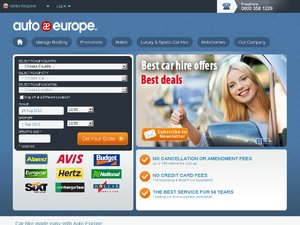 Auto Europe website