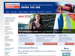 Autonational - Breakdown Cover website
