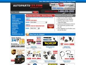 Autoparts123 website