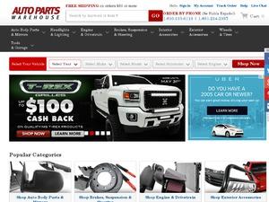 Auto Parts Warehouse website