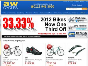 AW Cycles website