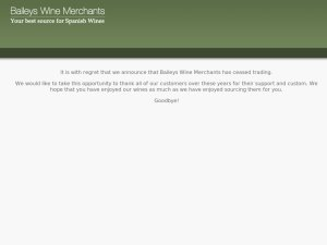 Baileys Wine Merchants website