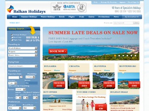 Balkan Holidays website