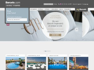 Barcelo Hotels International website