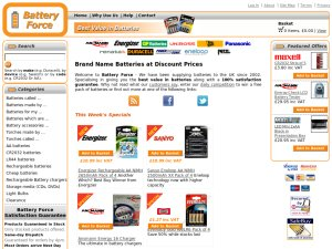 Battery Force website